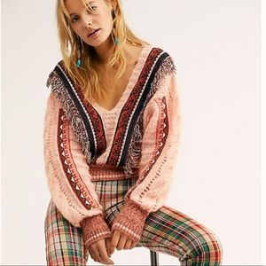 Free People Passion Fruit  Cropped Sweater